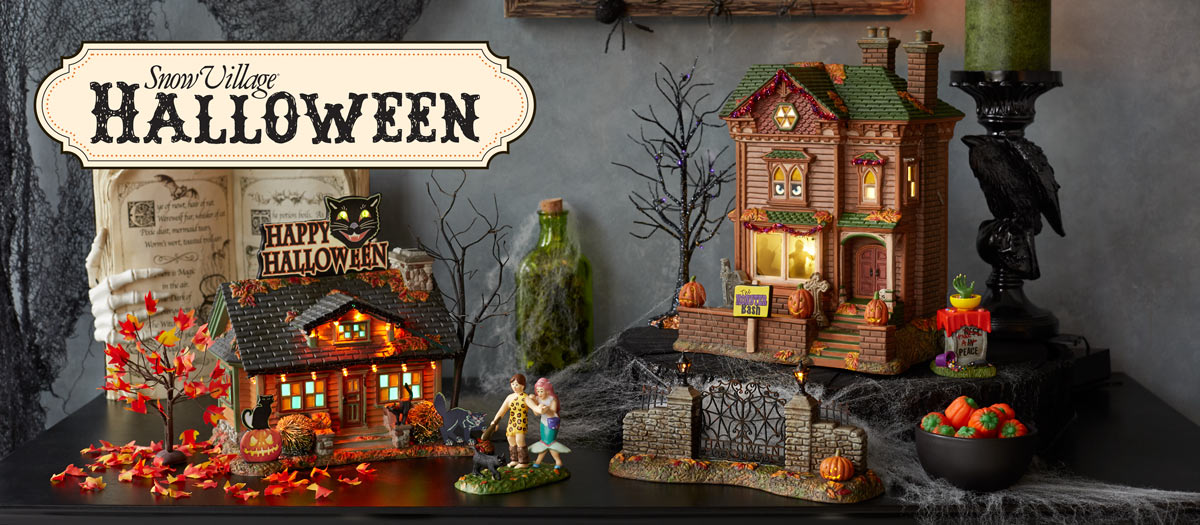 Snow Village Halloween Series