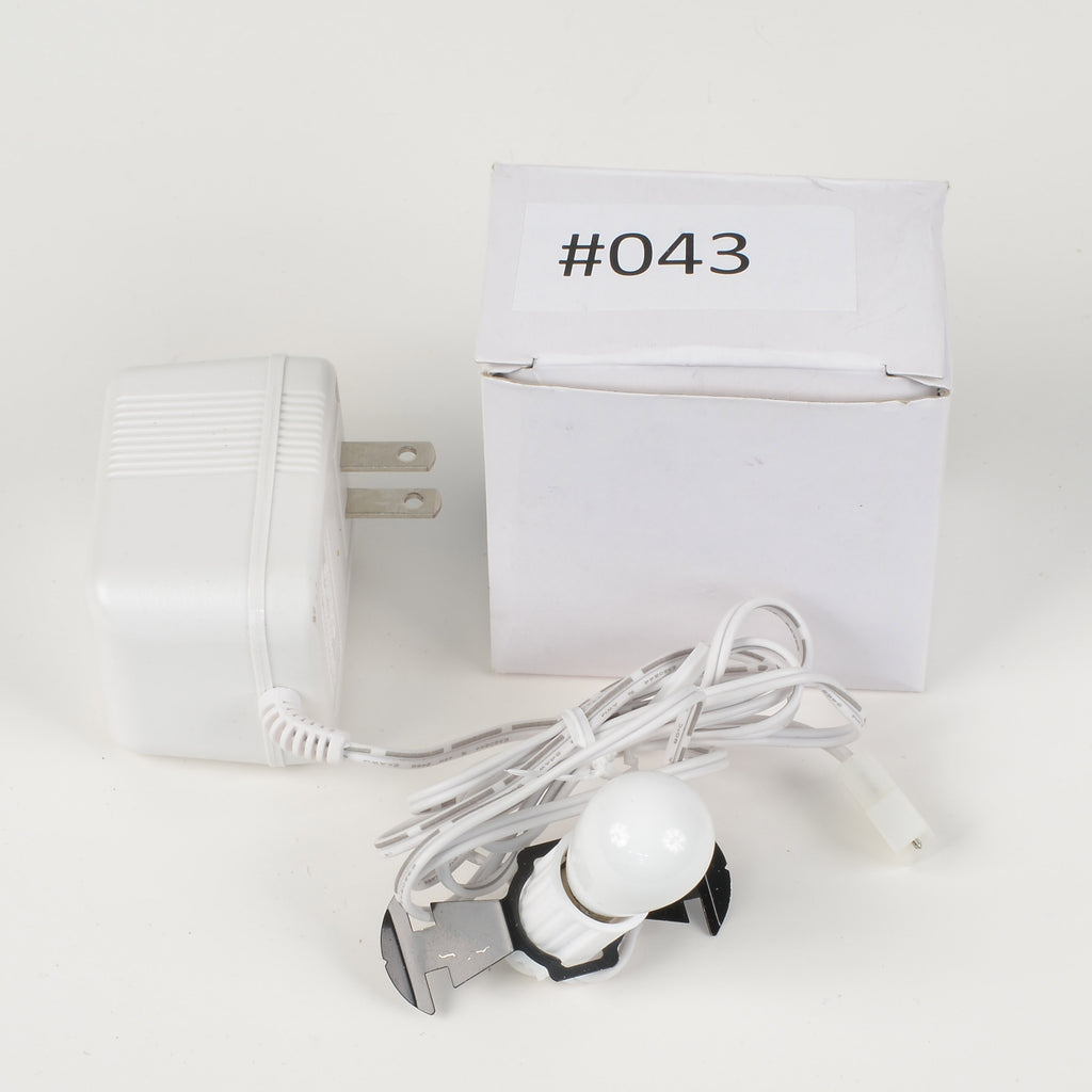Replacement Adapter 3V DC 700mA white male auxiliary clip