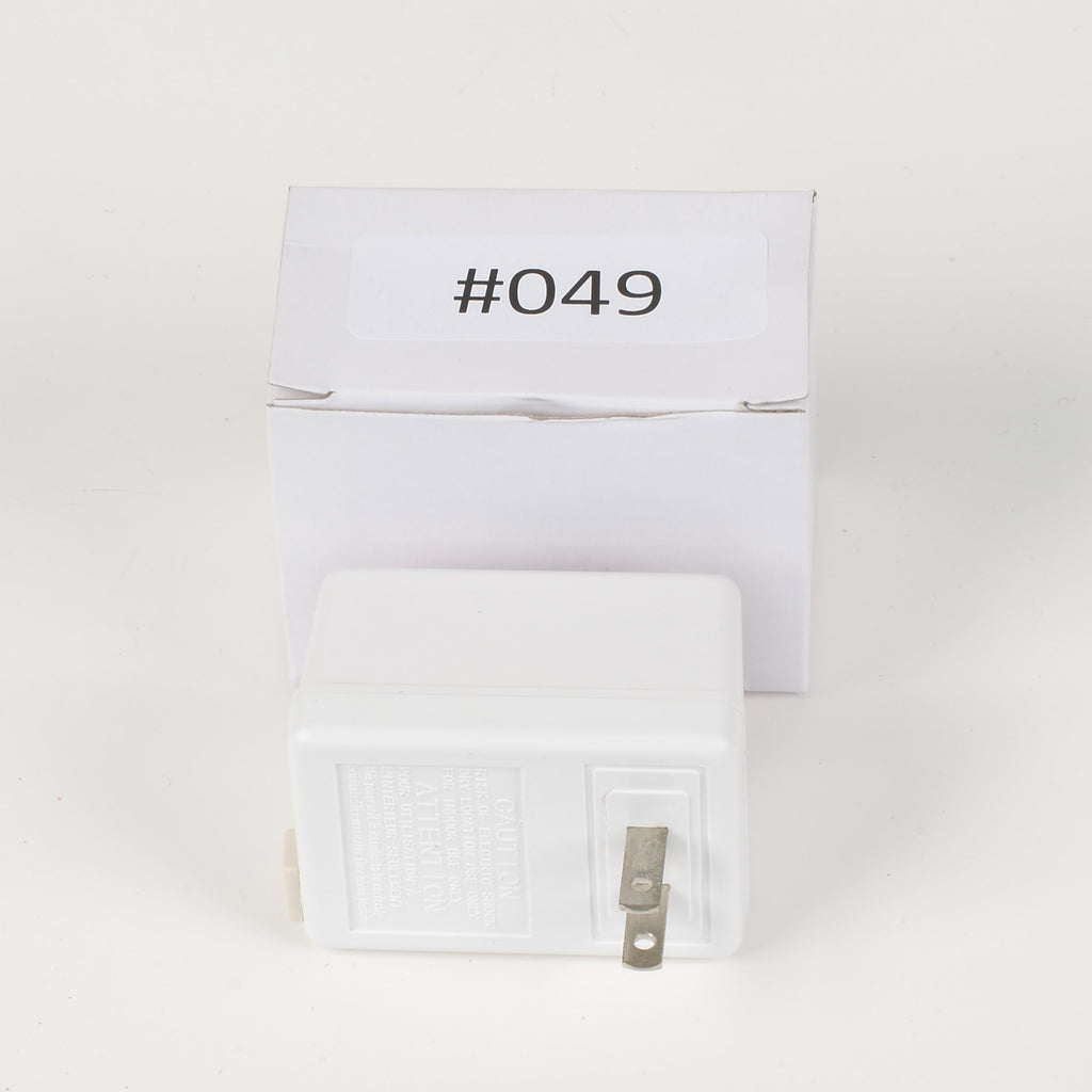 Replacement Adapter 12V AC 1000mA white plug only