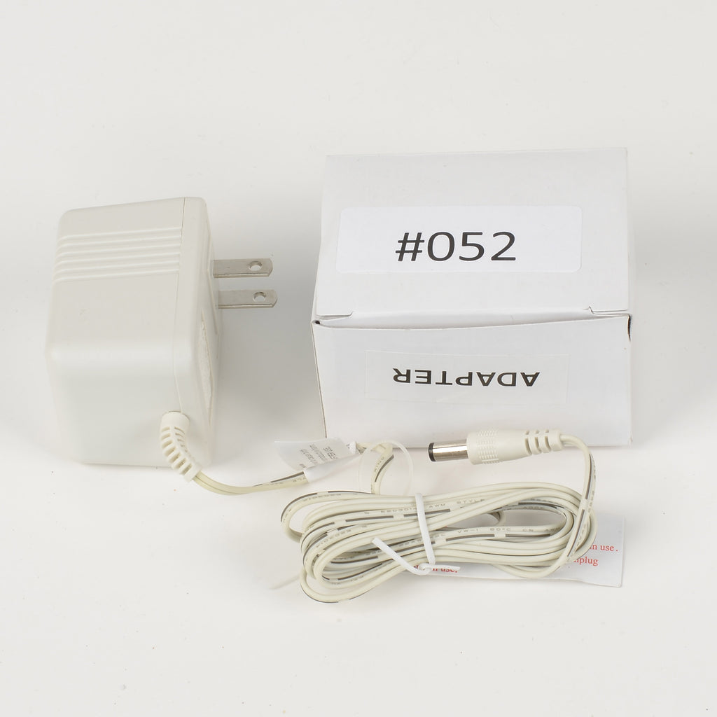 Replacement Adapter 12V AC 800mA white female jack