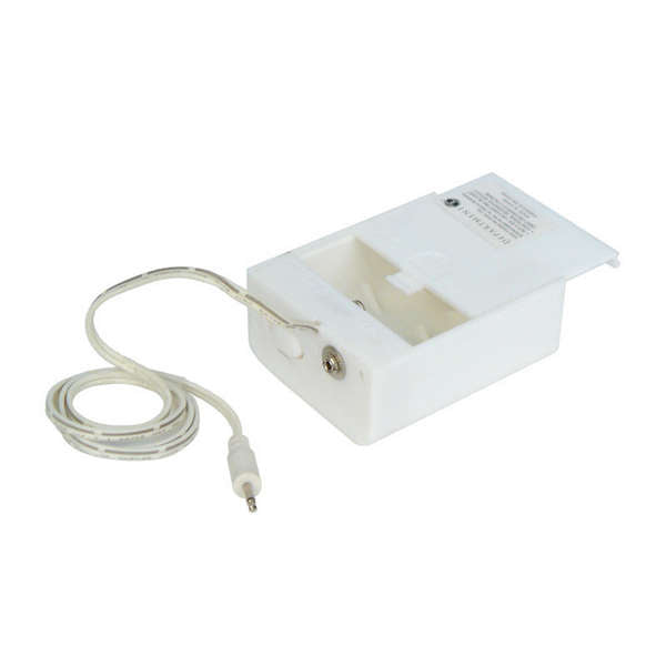 White Battery Box-uses 2 C batteries