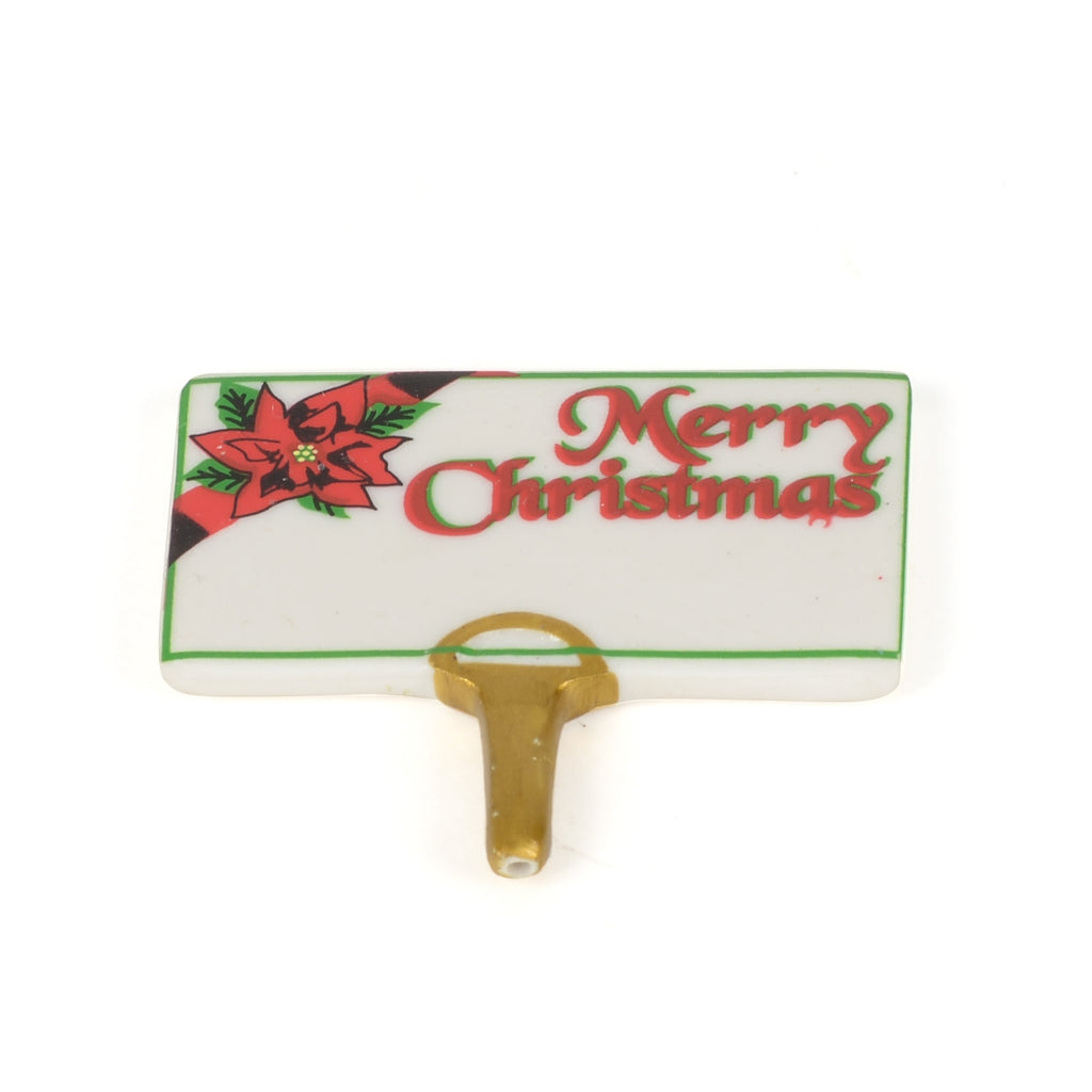 "Perry's Poinsettias Replacement Ceramic ""Merry Christmas"" Sign"