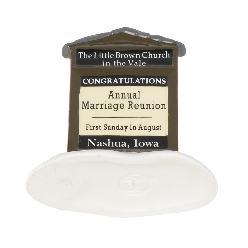 Little Brown Church in the Vale Ceramic Sign