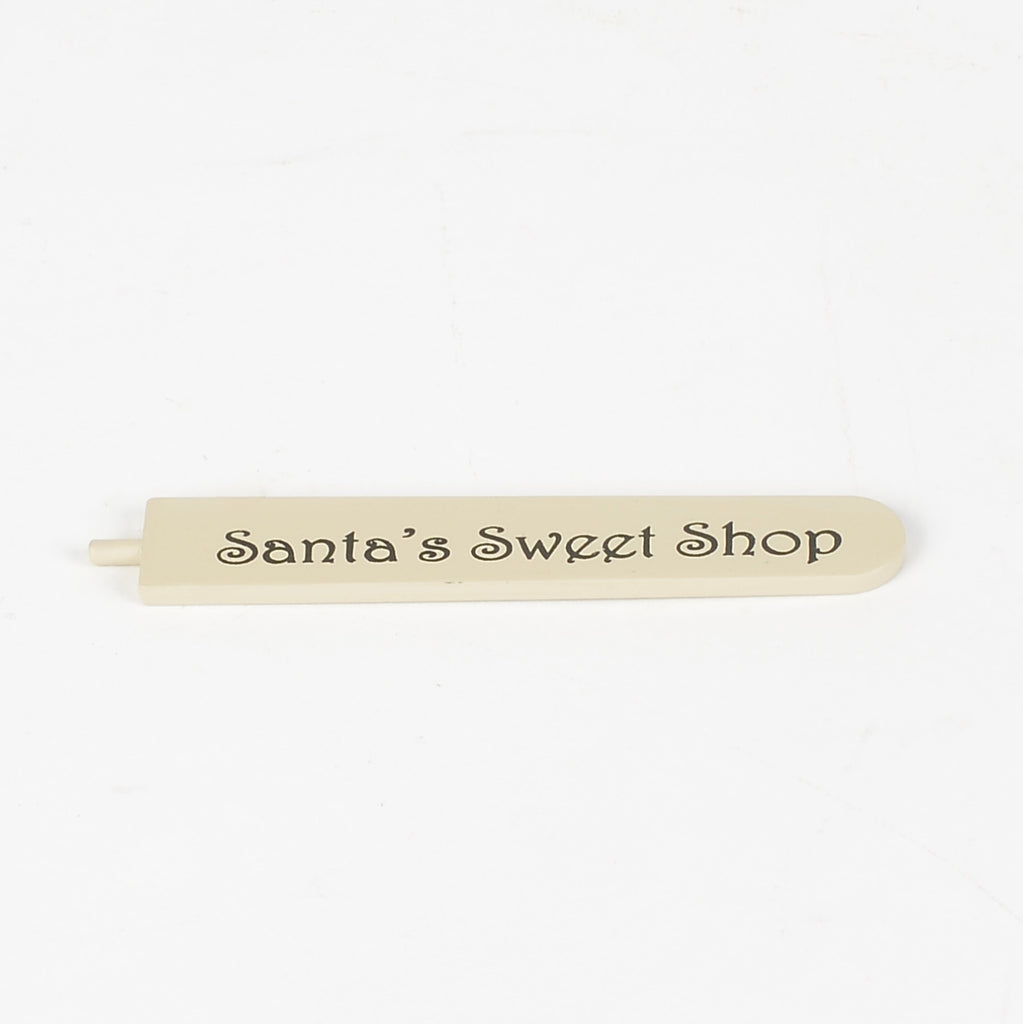 Katie's Candied Apples Santa's Sweet Shop stick/ sign