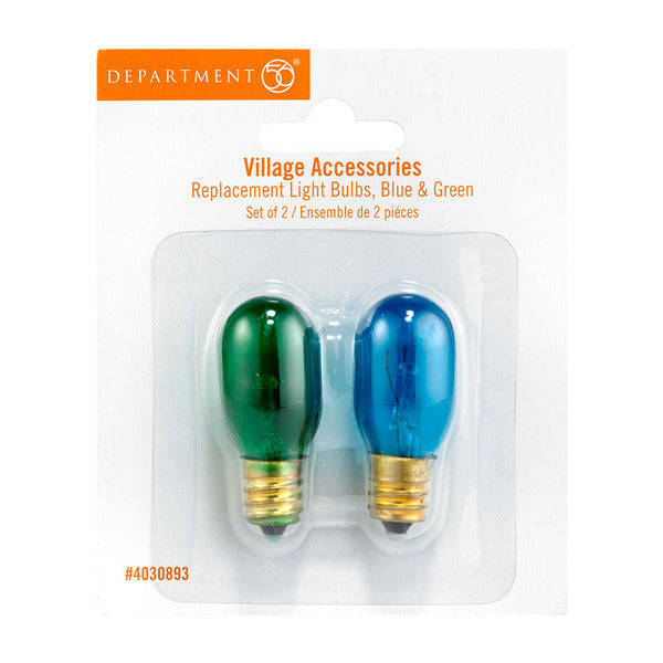 Replacement Blue & Green 120V Bulbs-Set of 2
