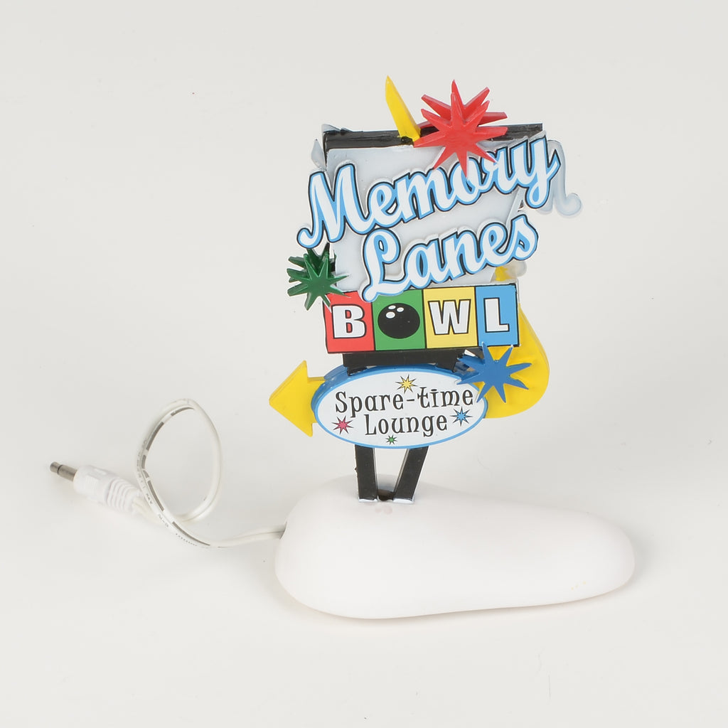 Memory Lanes Free Standing Sign (lighted)