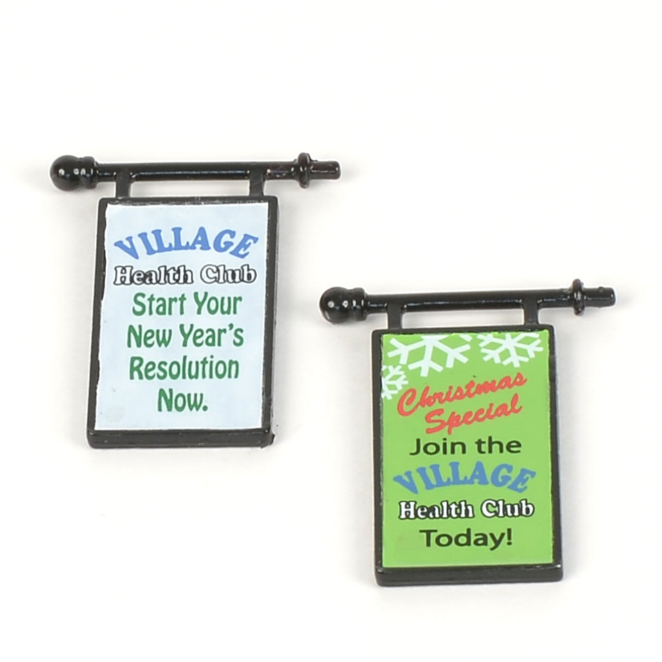 Village Health Club Signs-Set of 2