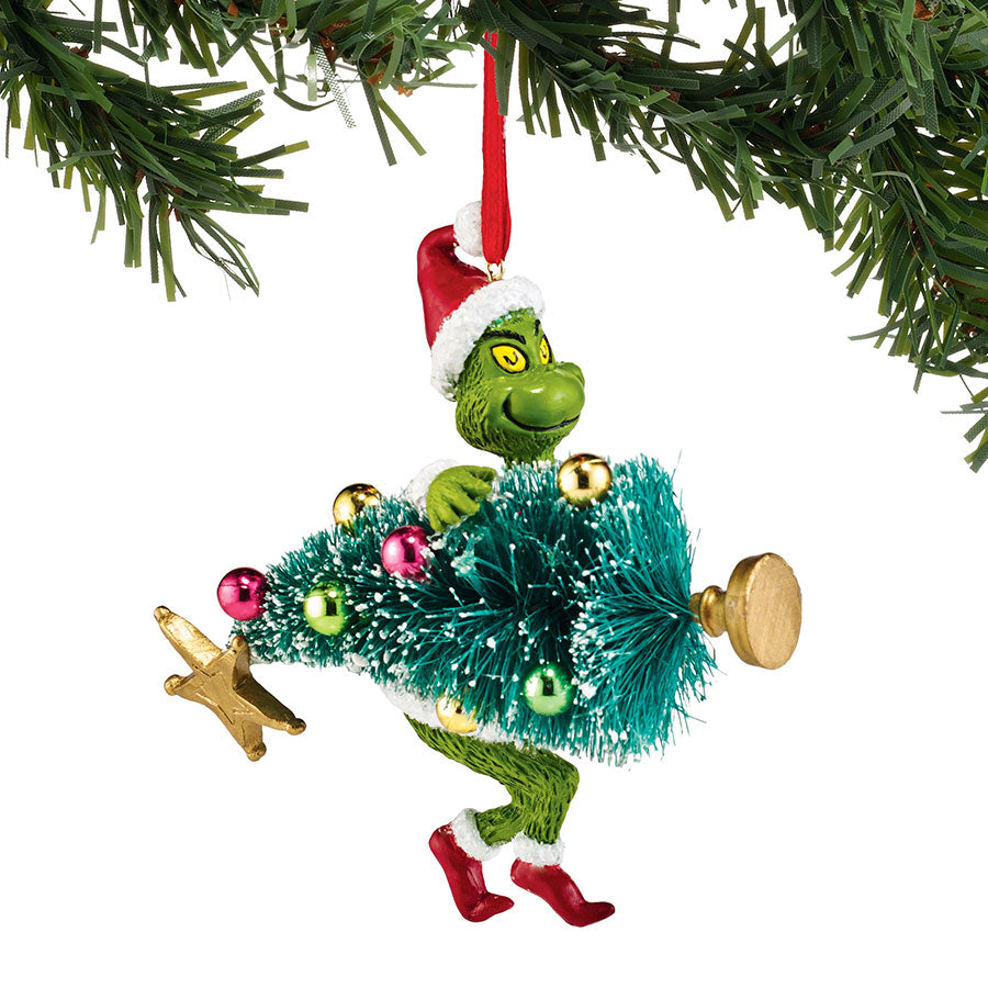 Grinch Stealing Tree Ornament