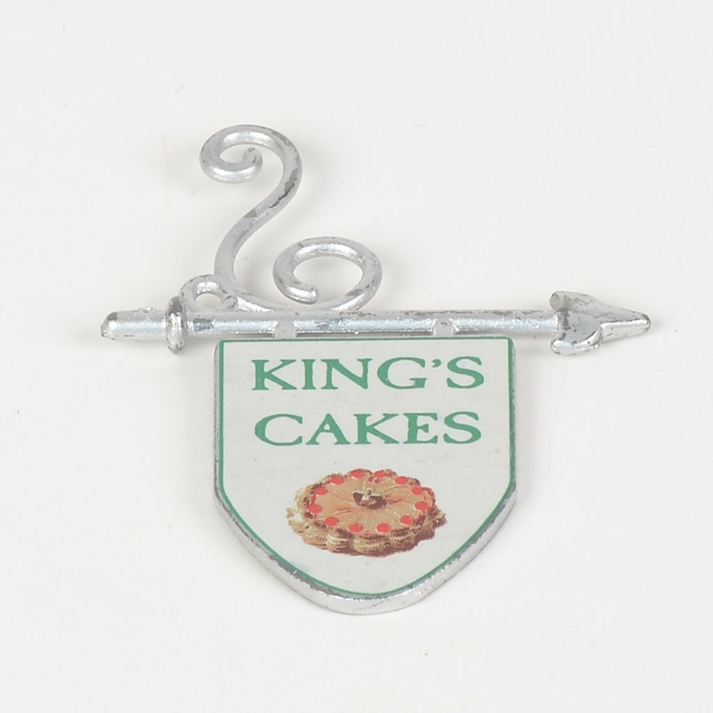 King's Cakes Hanging Sign
