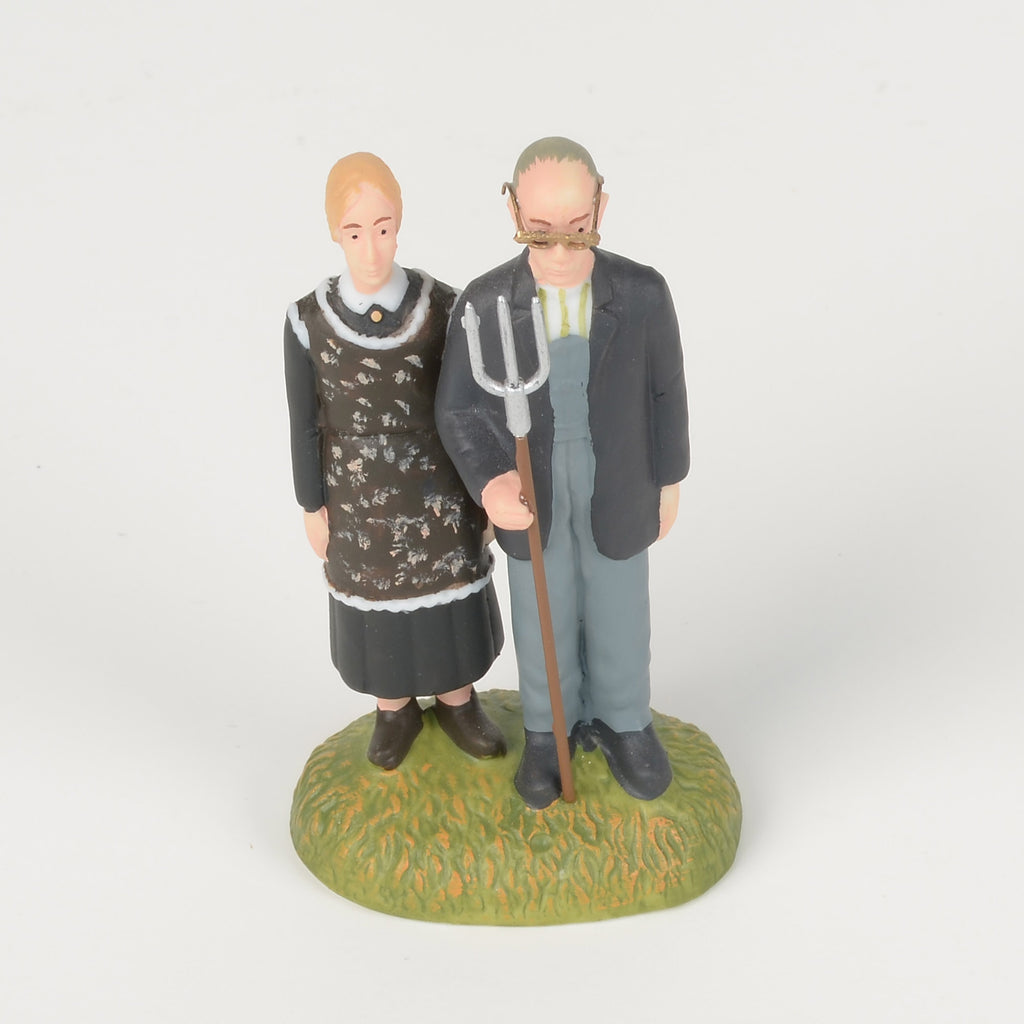 American Gothic Porcelain Figure