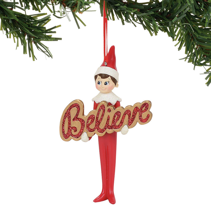 Elf On The Shelf Believe Orn