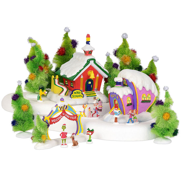 grinch who ville village - Grinch Christmas Tree Decorations