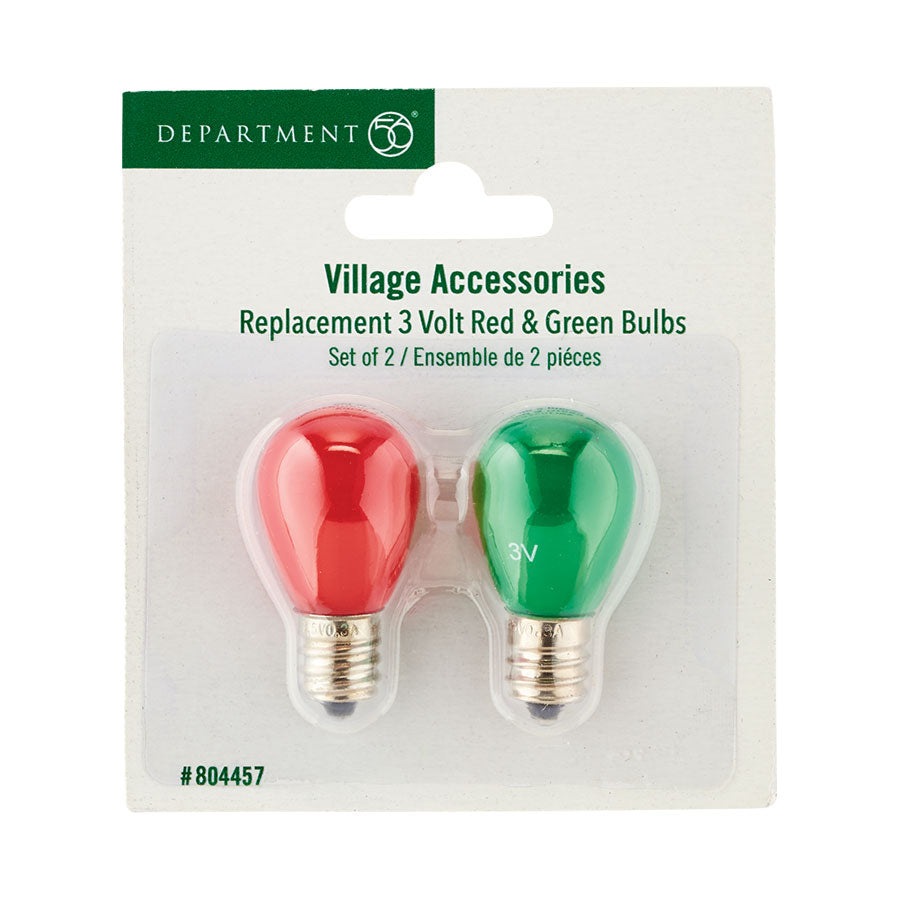 3 Volt Red & Green Bulbs (804457)