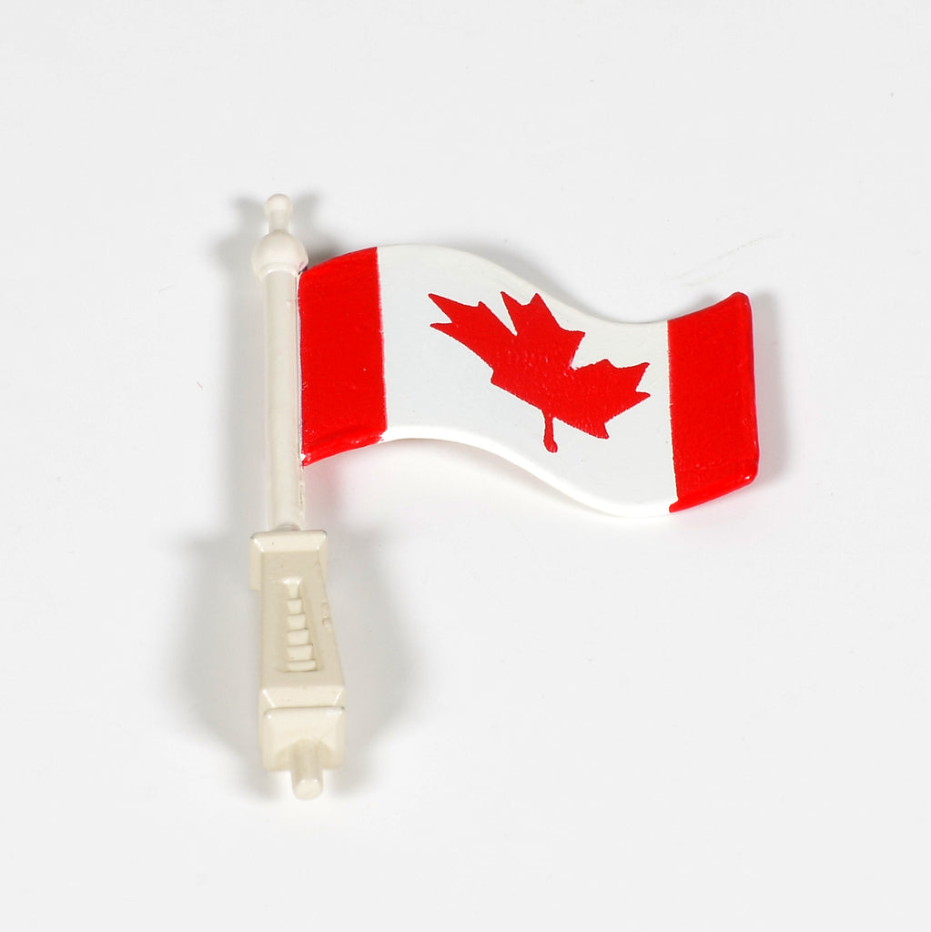 Village Town Hall Canadian Flag