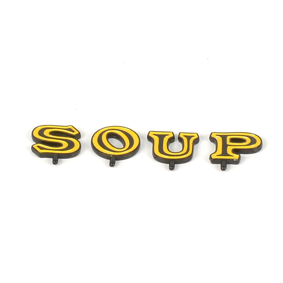 "Campbells Soup Counter Letters ""S-O-U-P"""