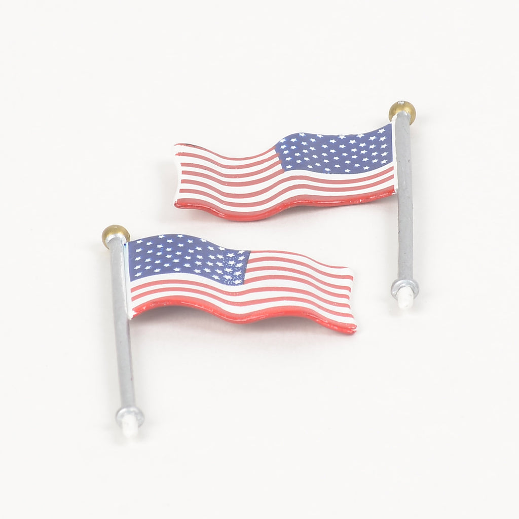 NASCAR Cafe Set of 2 American Flags