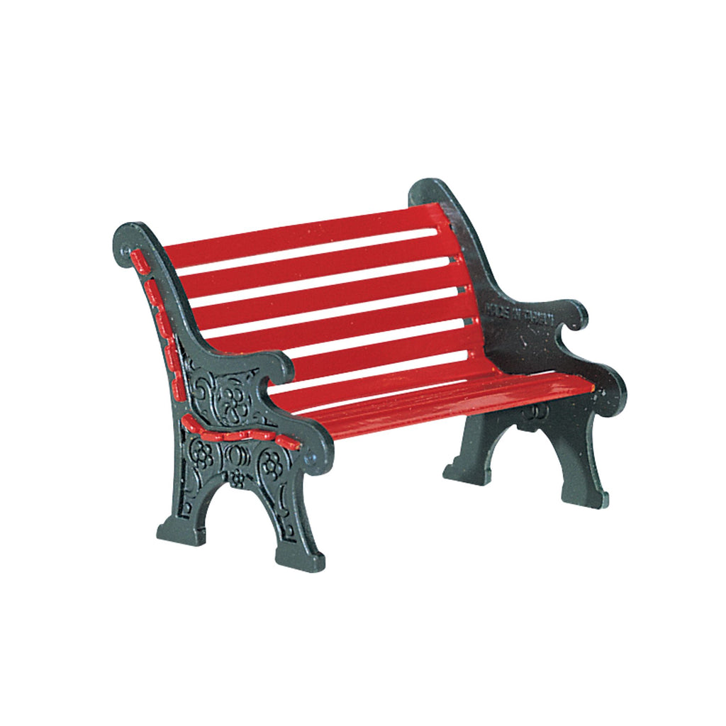 Village Accessories Red Wrought Iron Park Bench 56 56445