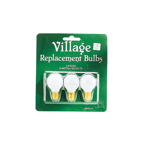 Replacement 120V Round Lite Bulb-Set of 3