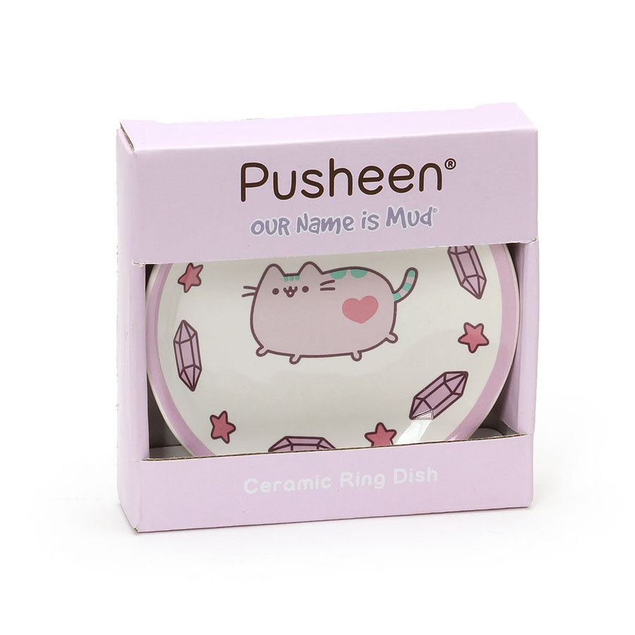 Our Name is Mud 6000283 Pusheen the Cat Purple RingDish