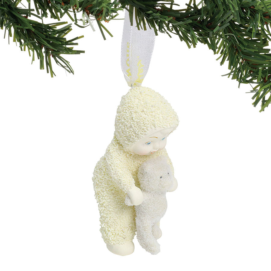 Baby with Bear Ornament