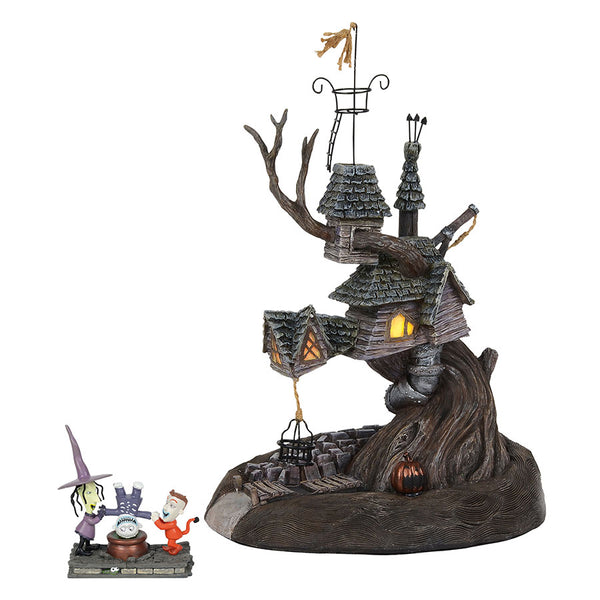 Nightmare Before Christmas Clown With A Tear Away Face.The Nightmare Before Christmas Village Series Department