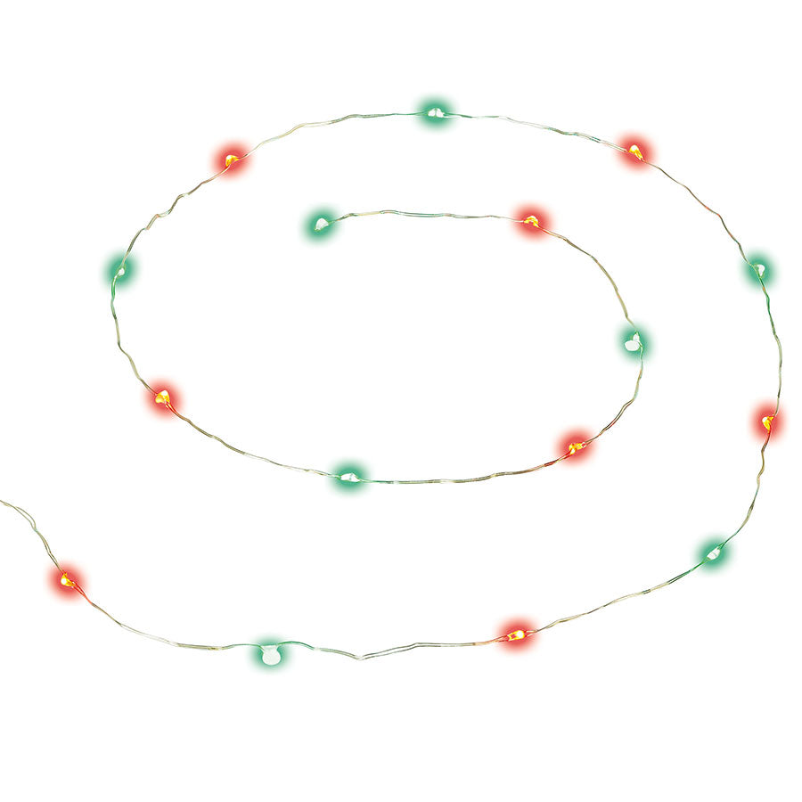 String Of 16 Red & Green Light