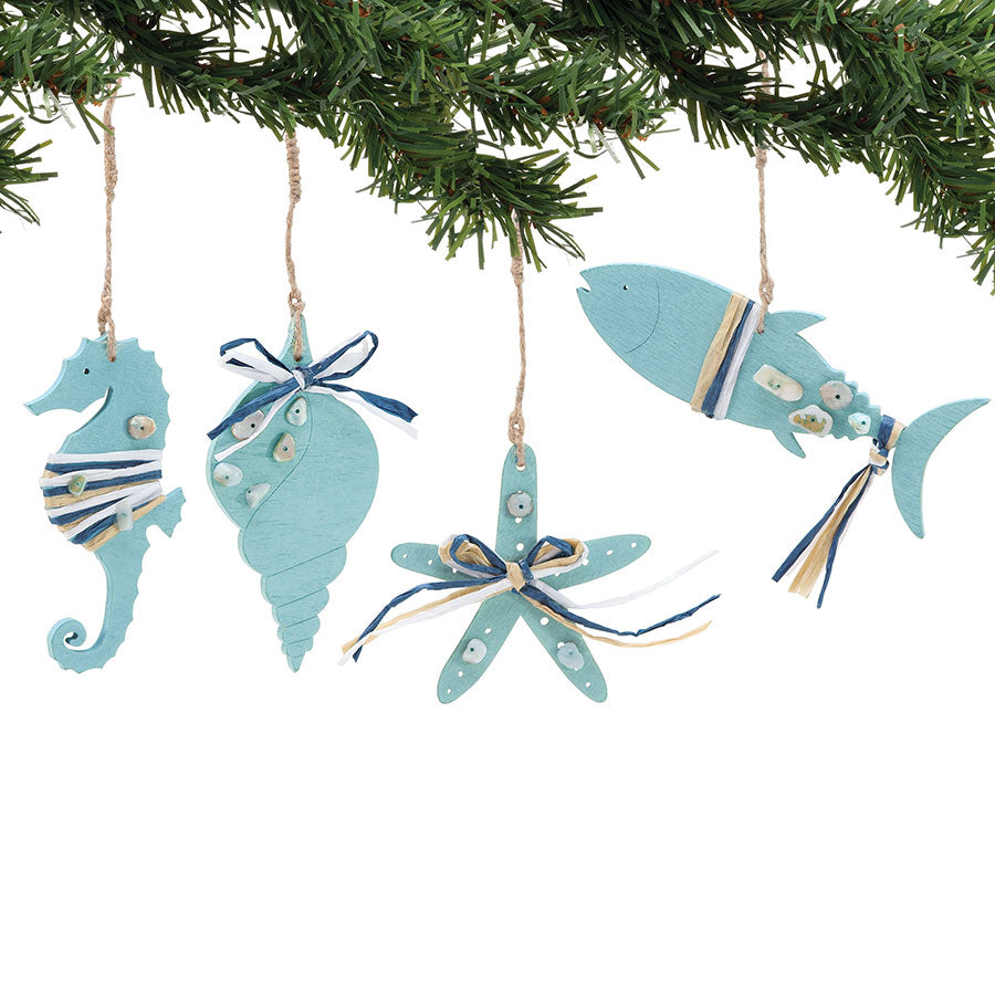 COAST Green Wood Ornaments