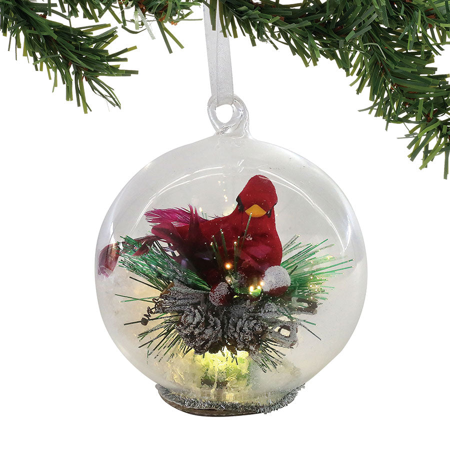 Cardinal in Glass Ball Orn