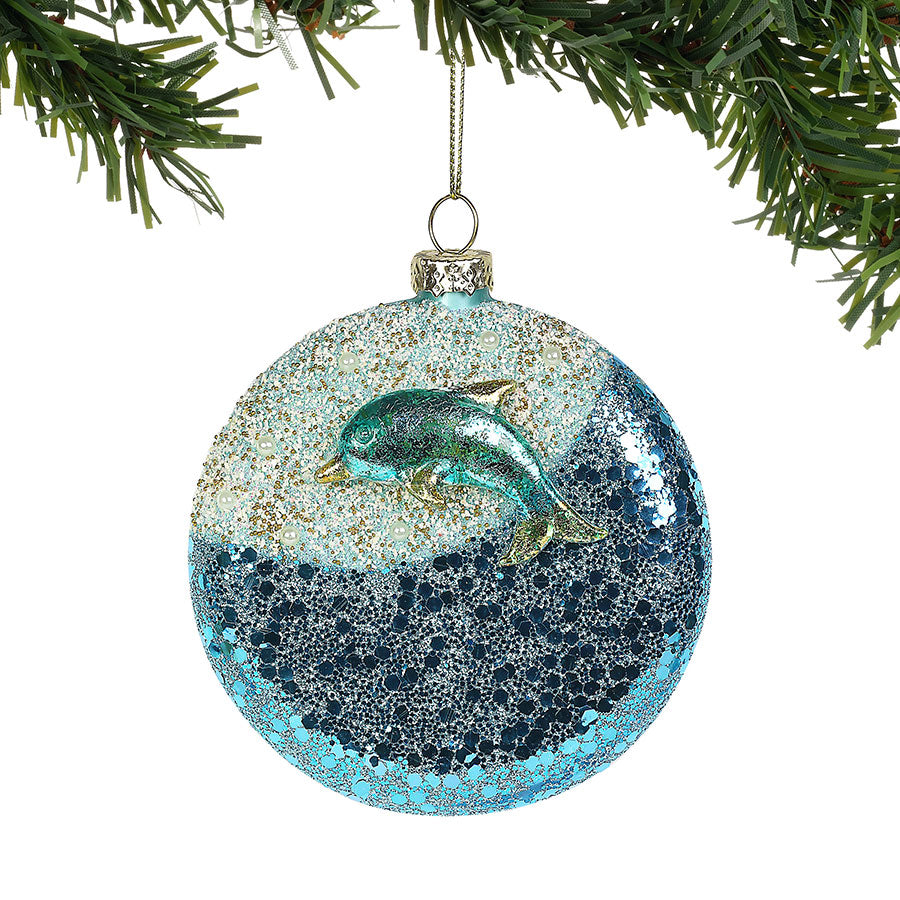 COAST Dolphin Wave Ornament