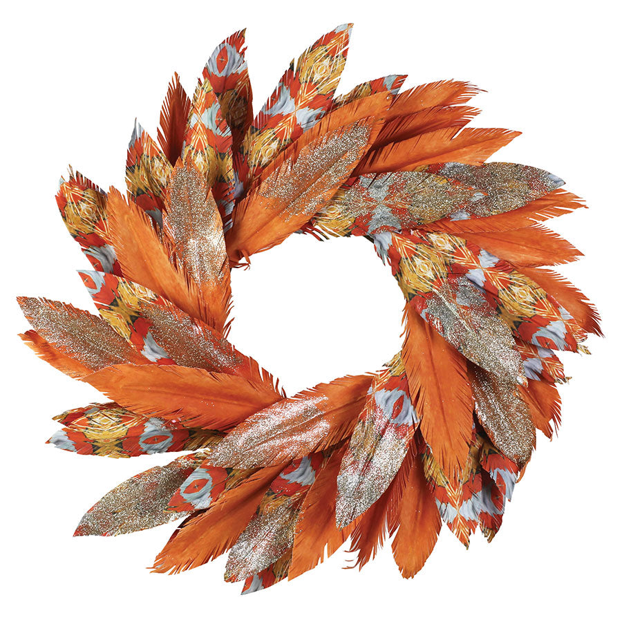 PACIFIC GOLD WATERCOLOR WREATH