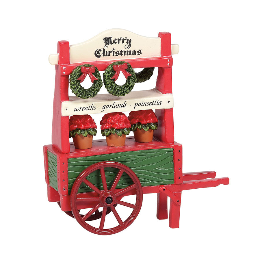 Christmas Poinsettia Cart