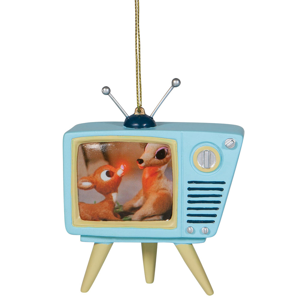 Rudolph Blue TV Ornament