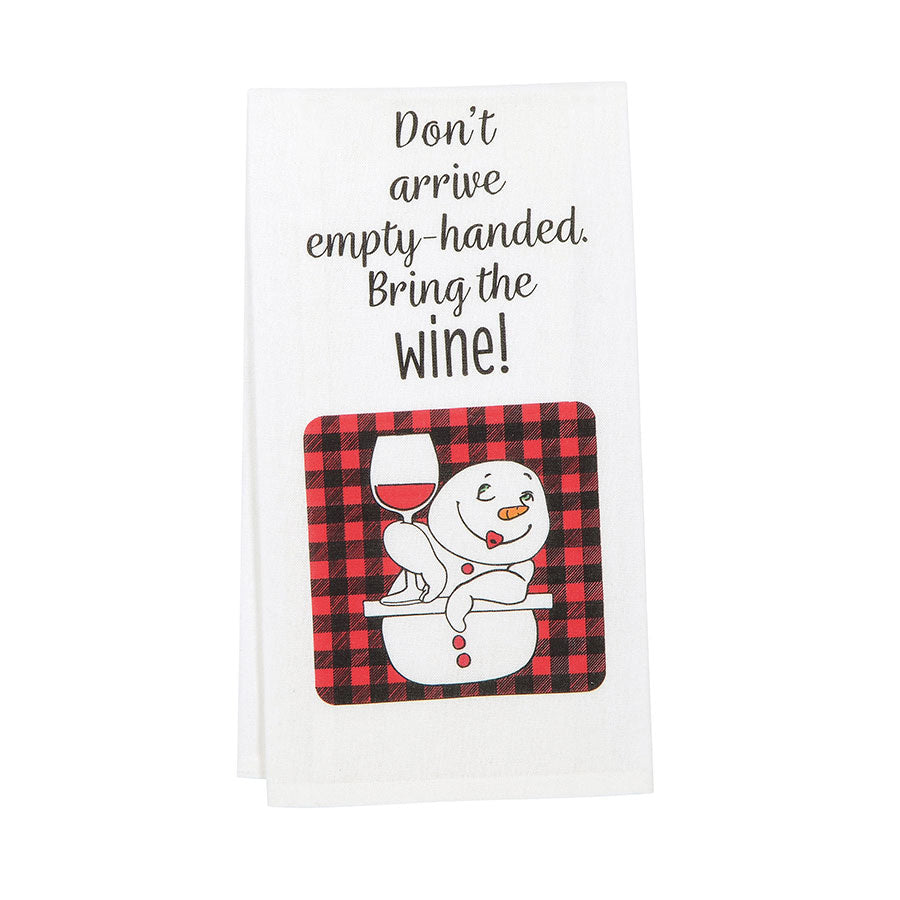 Don't Arrive Empty Hand towel