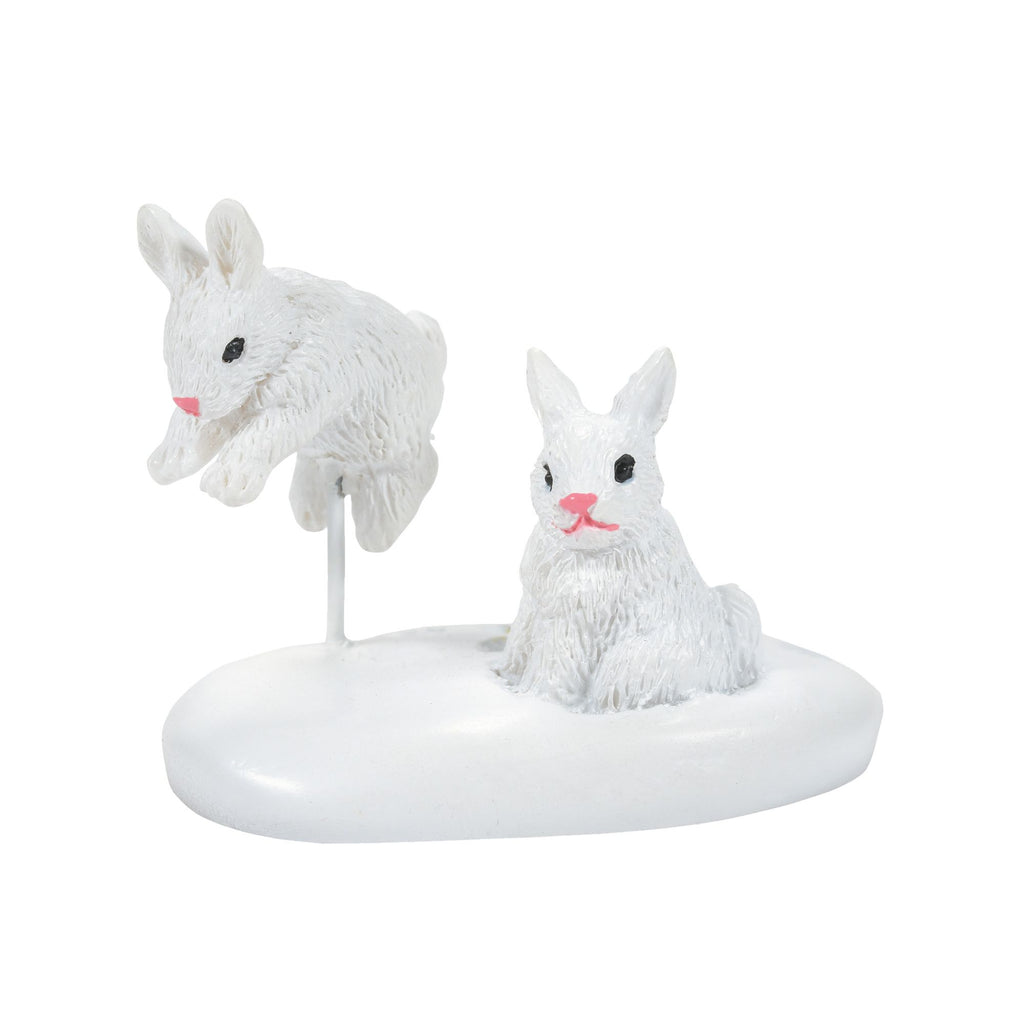 White Christmas Bunnies