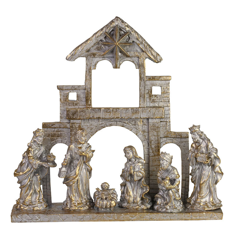 Gold Nativity on Base