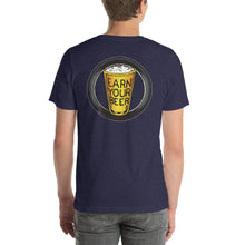 Load image into Gallery viewer, TIRE ON BACK // Earn Your Beer // Short Sleeve