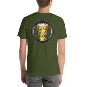 TIRE ON BACK // Earn Your Beer // Short Sleeve
