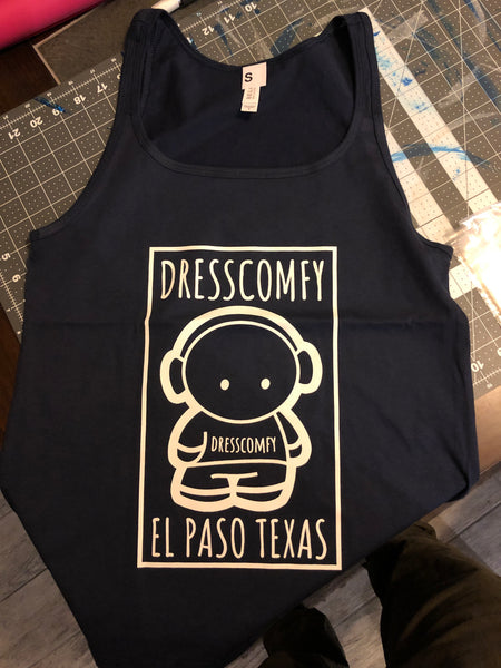 Navy Ladies DressComfy Tank