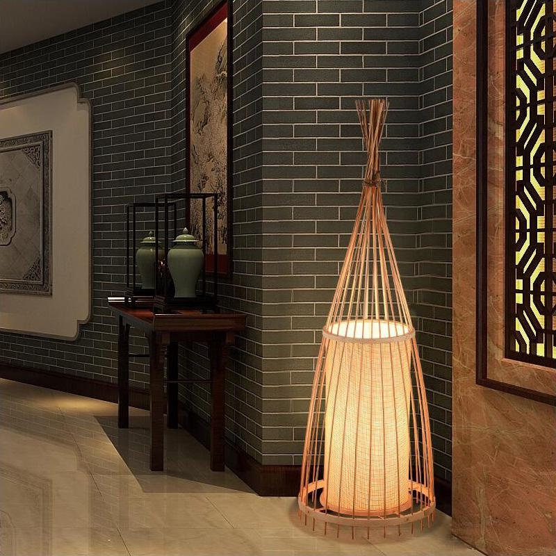 Japanese Bamboo Floor Lamp