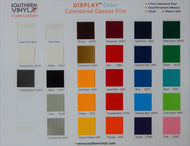 DISPLAY™ Color Vinyl – Color Chart