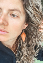Large Teardrop Leather Earrings