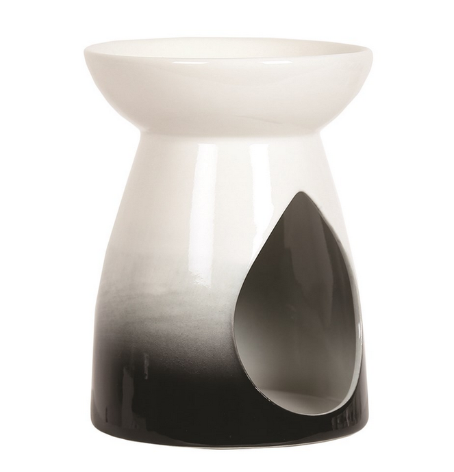 BLACK / WHITE TEARDROP WAX BURNER