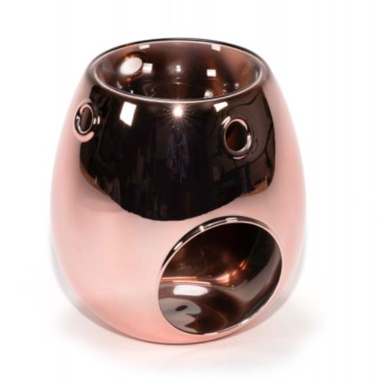 METALLIC ROSE GOLD GLASS BURNER