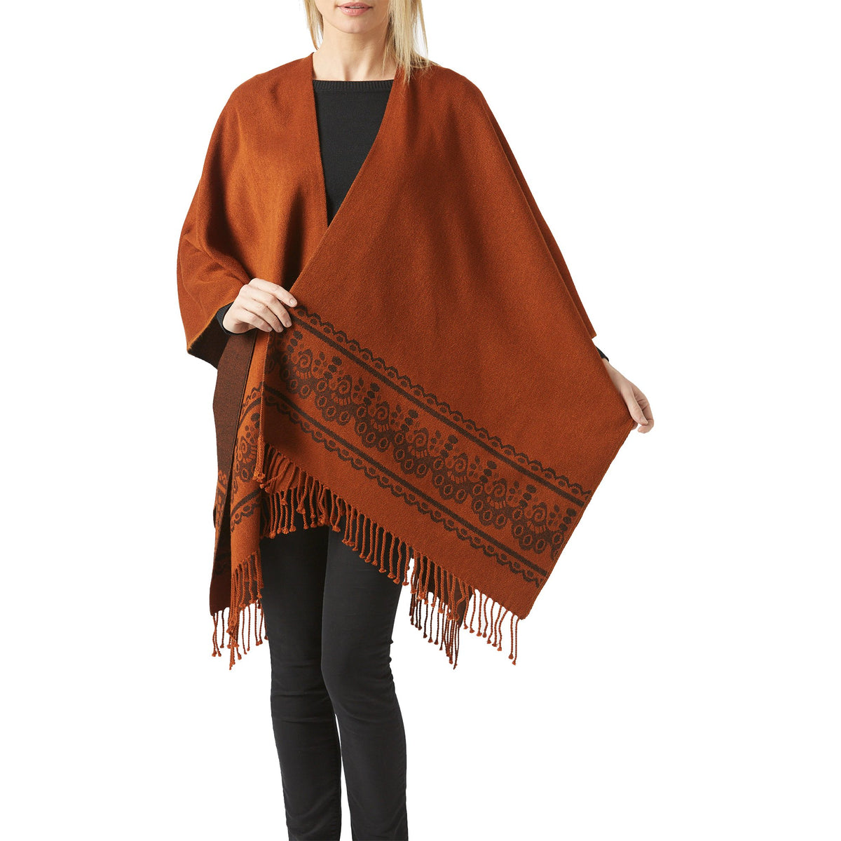 Women's Rust Shawl