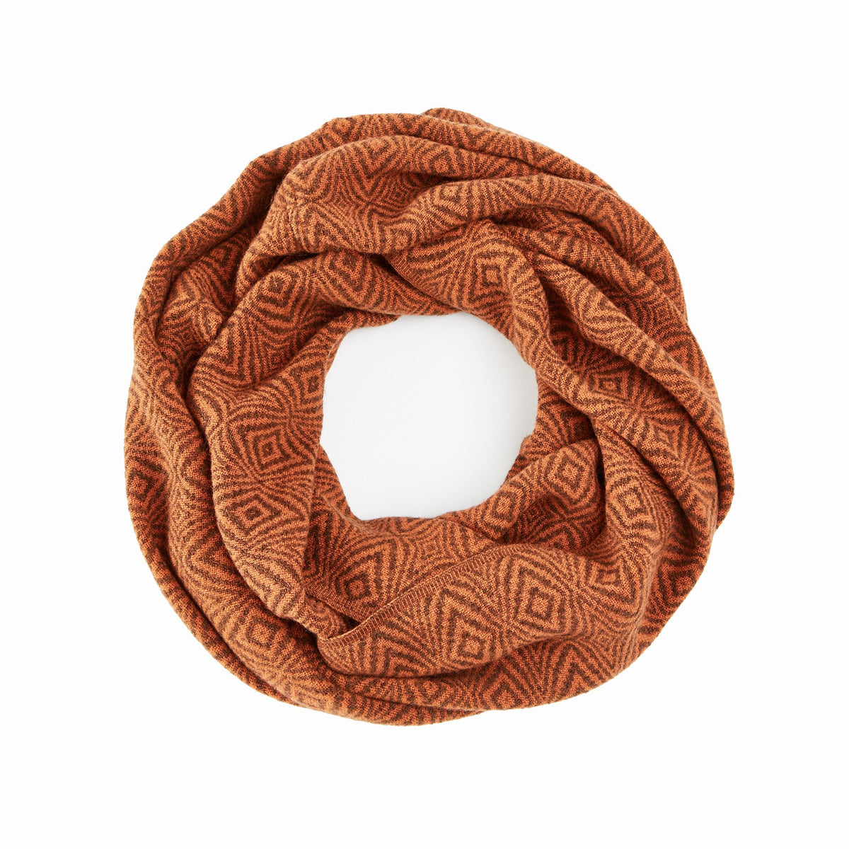 Burnt Orange Infinity Scarf