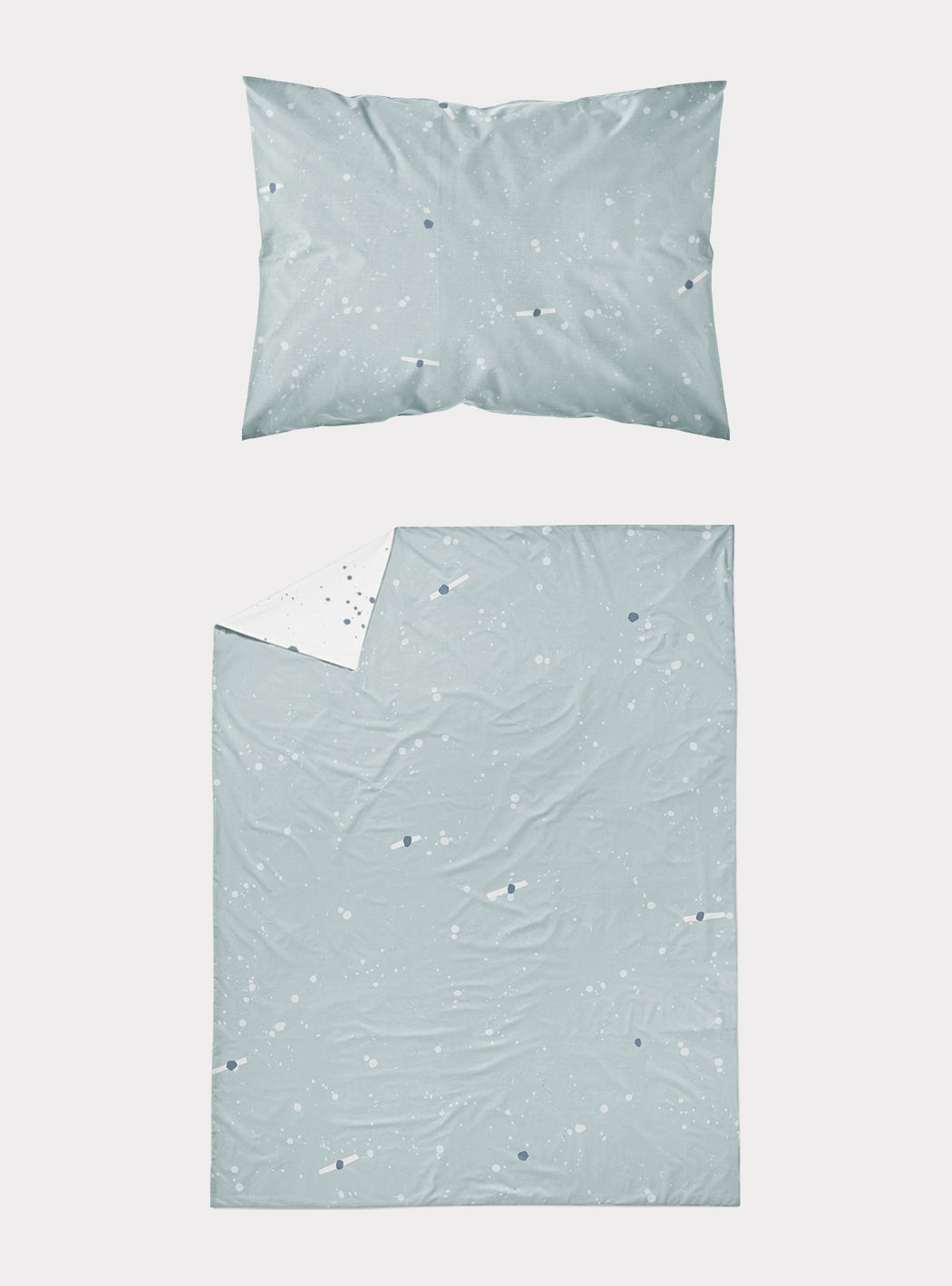Set of Duvet cover + pillowcase Blue Cosmos for Cradle