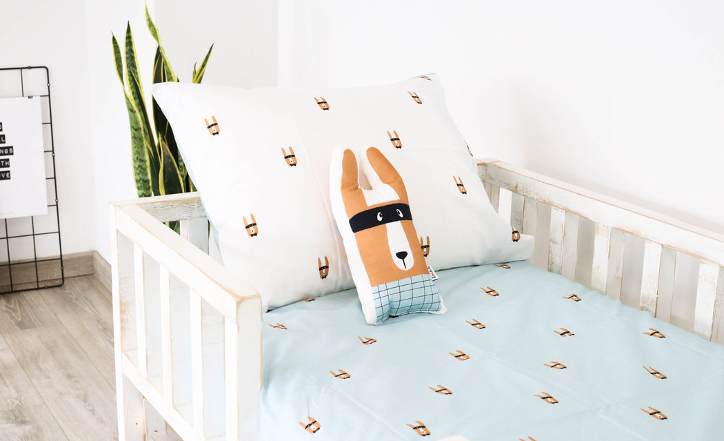 Set of Duvet cover + pillowcase Bandit Bear for crib