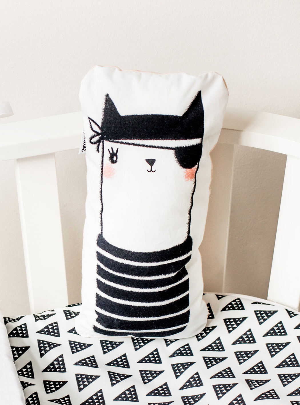 Pirate Kitten Decorative Cushion