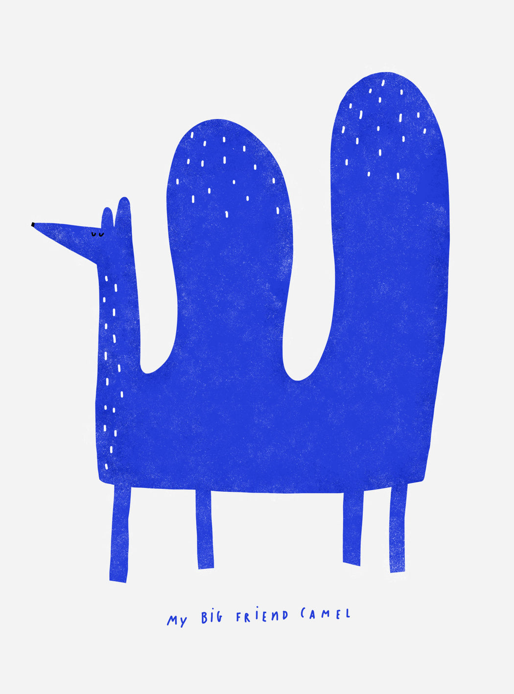 """My big friend Camel"" Blue Print"