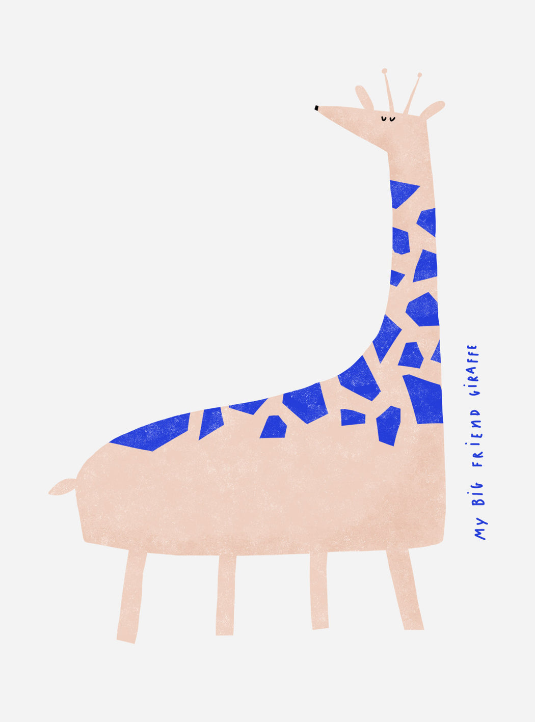 """My big friend Giraffe"" Nude Print"